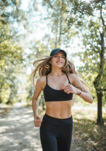 how to make your face more attractive - a girl jogging in a park